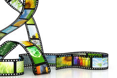 Film with images. 3D render stock illustration
