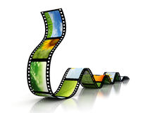 Film with images. 3D render royalty free illustration