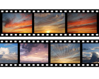 Film with images of sky Royalty Free Stock Photos
