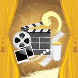 Film industry background. For design. Illustration Royalty Free Stock Photography