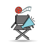 Film industry design. Illustration eps10 graphic Royalty Free Stock Images