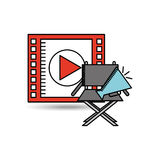 Film industry design. Illustration eps10 graphic Royalty Free Stock Photo