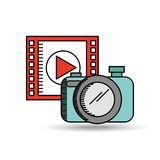 Film industry design. Illustration eps10 graphic Royalty Free Stock Photography