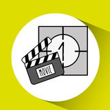 Film industry design. Illustration eps10 graphic Stock Image