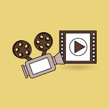 Film industry design. Illustration eps10 graphic Stock Photography