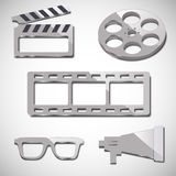 Film industry five elements Royalty Free Stock Photography