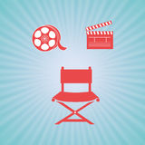 Film industry flat icon  design. Illustration eps10 graphic Royalty Free Stock Image