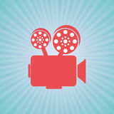 Film industry flat icon  design. Illustration eps10 graphic Stock Images