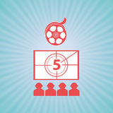 Film industry flat icon  design. Illustration eps10 graphic Stock Photo