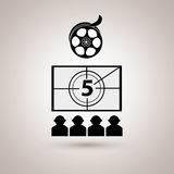 Film industry flat icon  design. Illustration eps10 graphic Royalty Free Stock Photos