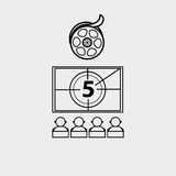 Film industry flat icon  design. Illustration eps10 graphic Stock Photography