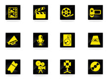Film Industry Icons. Set for web sites and user interface Stock Photos