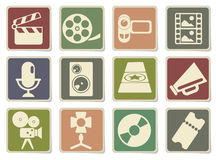 Film Industry Icons. Set for web sites and user interface Stock Photography
