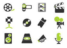 Film Industry Icons. Film Industry  simply symbols for web and user interface Royalty Free Stock Images