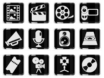 Film Industry Icons. Film Industry  simply symbols for web and user interface Royalty Free Stock Photo