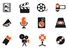 Film Industry Icons. Film Industry  simply symbols for web and user interface Stock Photography
