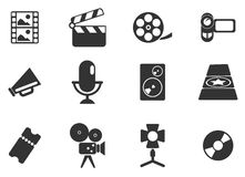 Film Industry Icons. Film Industry  simply symbols for web and user interface Stock Photos