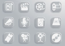 Film Industry Icons. Film Industry  simply symbols for web and user interface Royalty Free Stock Image
