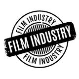 Film Industry rubber stamp. Grunge design with dust scratches. Effects can be easily removed for a clean, crisp look. Color is easily changed Royalty Free Stock Photo
