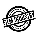 Film Industry rubber stamp. Grunge design with dust scratches. Effects can be easily removed for a clean, crisp look. Color is easily changed Stock Image