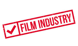 Film Industry rubber stamp. Grunge design with dust scratches. Effects can be easily removed for a clean, crisp look. Color is easily changed Stock Photos