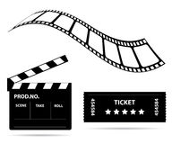 Film industry signs. For your website Stock Illustration