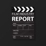 Film industry templates for flyers, brochure, annual report, folder. Cinema, movie Business. Vector Royalty Free Stock Photography