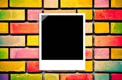 Film instant old wall background. Film instant on old wall background Stock Image