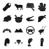 Film, instrument, cars, taxi and other web icon in black style. Film, instrument, cars, taxi and other  icon in black style.animal, computer, police icons in Royalty Free Stock Photos