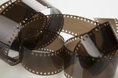 Film, isolated on white background. Film, macro photo,  isolated on white background Stock Photo