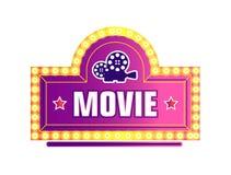 Film kamera i gwiazda logo, filmowanie przemysł odizolowywaliśmy ikonę royalty ilustracja