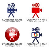 Film-Kamera-Konzept-Logo Lizenzfreies Stockbild