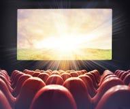 Film am Kino stockfotografie