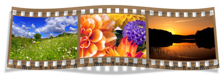 Film with landscapes Royalty Free Stock Image