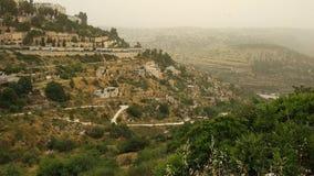Film- Landschaft von erstaunlichen Hügeln in Jerusalem, Israel lizenzfreie stockfotos