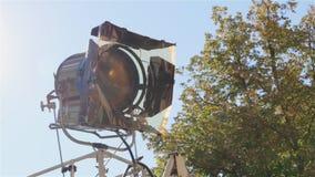 Film lichte reeks in openlucht stock video