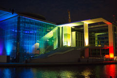 Film and light show at the German Bundestag. Stock Image