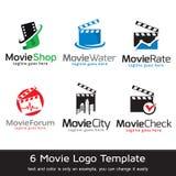 Film Logo Template Design Vector Royaltyfria Foton