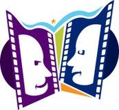Film mask logo. Illustration art of a film mask logo with isolated background Stock Photography