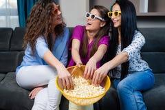 Film med flickorna Arkivbild
