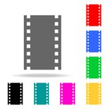 Film or Media Icons. Elements in multi colored icons for mobile concept and web apps. Icons for website design and development, ap. P development on white Royalty Free Stock Image