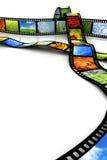 Film met beelden Stock Afbeelding