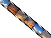 Film met hemelfoto's Stock Afbeeldingen