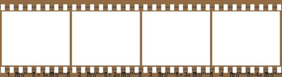 Film mit 4 leeren Bildern Lizenzfreie Stockfotos