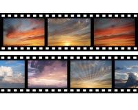 Film mit Bildern des Himmels Lizenzfreie Stockfotos