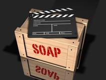 Film mit einer Mitteilung Stockbild