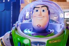 Film modèle d'animation de Toy Story de forme de caractère de jouet de robot de Buzz Lightyear au cinéma image libre de droits