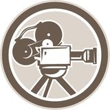 Film Movie Camera Vintage Circle Retro Royalty Free Stock Photos