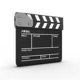 Film movie clapper. Isolated on white background. 3d render image Stock Image