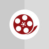 Film and movie icon design Royalty Free Stock Image
